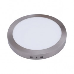 Downlight Sup. Red. 24w 6500k Aquiles Led Niquel 1800 Lm 30dx4h